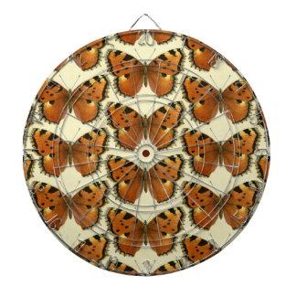 Cible De Fléchettes Motif de papillons orange et noir