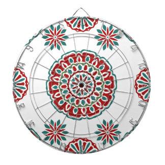 Cible De Fléchettes Motif floral de rétro abrégé sur coloré bohémien