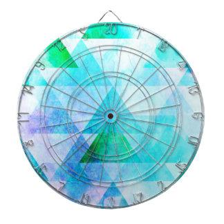 Cible De Fléchettes Motif géométrique d'aquarelle bleue
