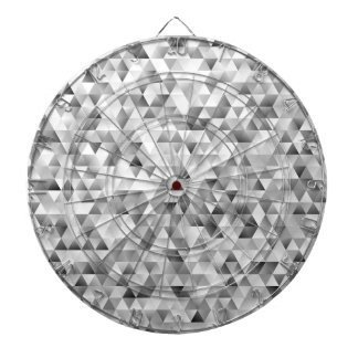 Cible De Fléchettes Motif gris de triangle