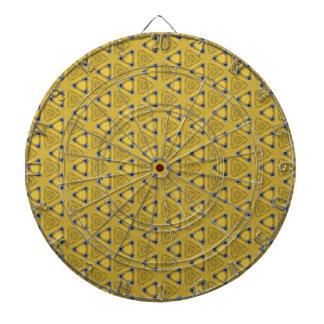 Cible De Fléchettes Motif triangulaire jaune