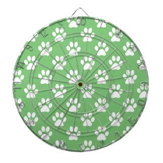 Cible De Fléchettes Motif vert et blanc de pattes