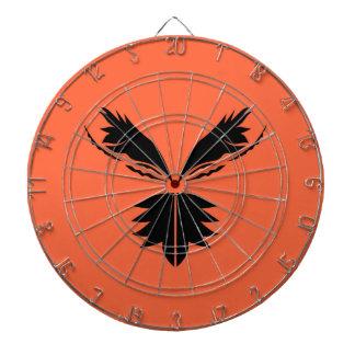 Cible De Fléchettes Noir d'ailes sur l'orange