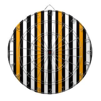 Cible De Fléchettes Noir lisse avec l'orange