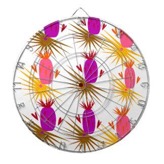Cible De Fléchettes Orange exotique de rose d'ananases de conception