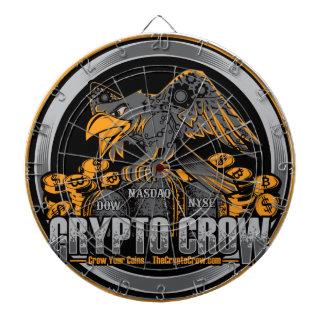 Cible De Fléchettes Orange sur la crypto corneille noire