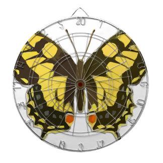 Cible De Fléchettes Papillon jaune