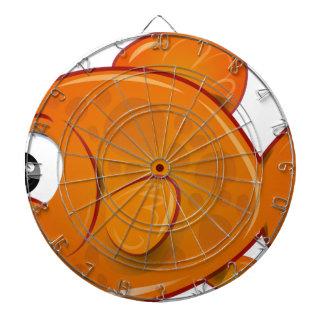 Cible De Fléchettes Poisson rouge orange