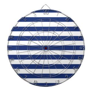 Cible De Fléchettes Rayures bleues et blanches de point chanceux