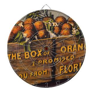 Cible De Fléchettes Rétros oranges vintages de la Floride