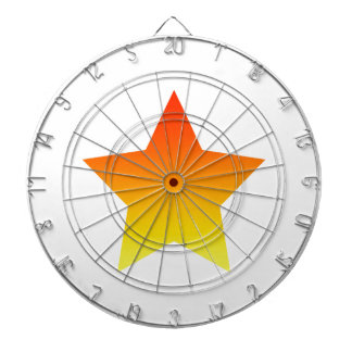 Cible De Fléchettes Rouge/étoile orange