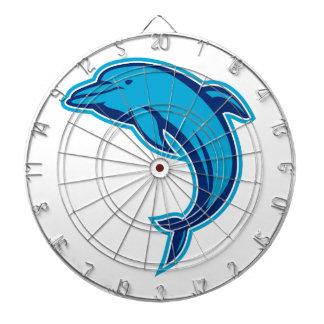 Cible De Fléchettes Sauter bleu de dauphin rétro