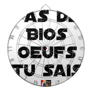 Cible De Fléchettes T'AS DE BIOS OEUFS TU SAIS - Jeux de mots