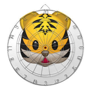 Cible De Fléchettes Tigre mignon Emoji
