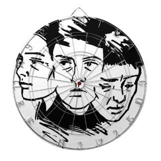 Cible De Fléchettes trois visages