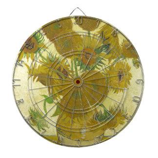 Cible De Fléchettes Vincent van Gogh - tournesols - peinture classique