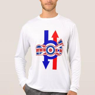 Cible de logo de mod et performace micro de flèche t-shirt