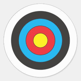 Cible de tir à l arc adhésif rond