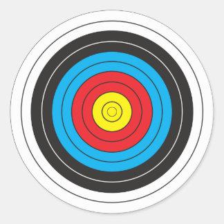 Cible de tir à l'arc adhésif rond