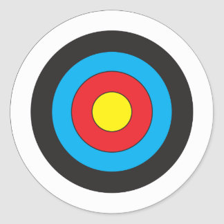Cible de tir à l'arc sticker rond