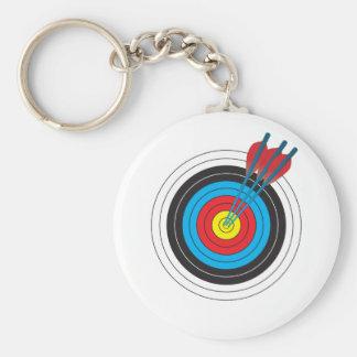 Cible de tir à l'arc avec des flèches porte-clé rond