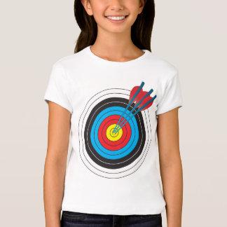 Cible de tir à l'arc avec des flèches t-shirts