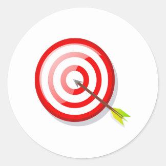 Cible et flèche de tir à l'arc sticker rond