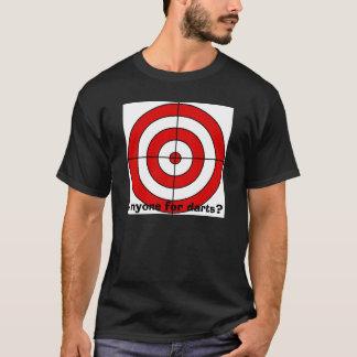 cible, n'importe qui pour des dards ? t-shirt