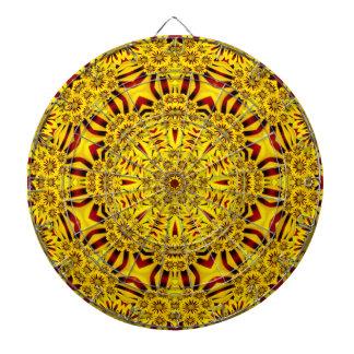 Cible vintage de kaléidoscope   de soucis cible de fléchettes