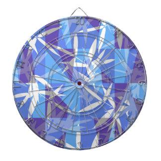 Cibles De Fléchettes Bambou dans le motif géométrique bleu