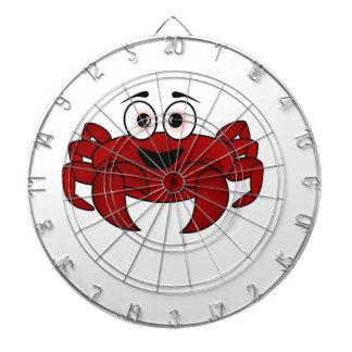 Cibles De Fléchettes Bande dessinée de crabe