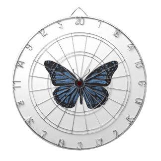 Cibles De Fléchettes Bleu vintage de papillon de monarque de Girlie