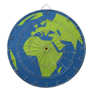 Cibles De Fléchettes Carte du monde