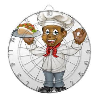 Cibles De Fléchettes Chiche-kebab de chef de bande dessinée