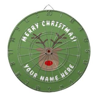 Cibles De Fléchettes Cible de Joyeux Noël avec Rudolf le renne
