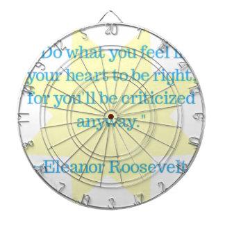 Cibles De Fléchettes Citation d'Eleanor Roosevelt