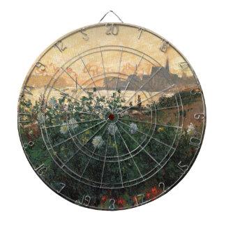 Cibles De Fléchettes Claude Monet - rive fleurie Argenteuil