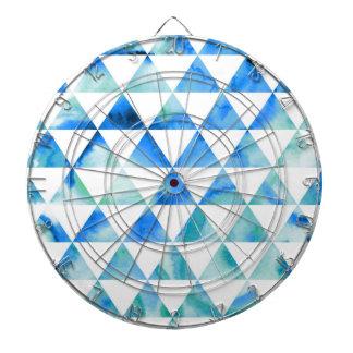 Cibles De Fléchettes Conception bleue de triangle d'aquarelle