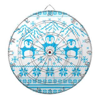 Cibles De Fléchettes Conception scandinave bleue mignonne de vacances
