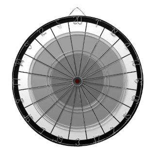 Cibles De Fléchettes Défi noir gris moderne de l'oeil de taureaux de