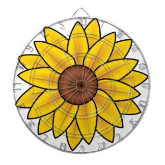 Cibles De Fléchettes Dessin jaune de tournesol