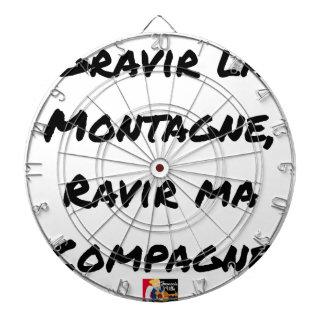 CIBLES DE FLÉCHETTES GRAVIR LA MONTAGNE, RAVIR MA COMPAGNE