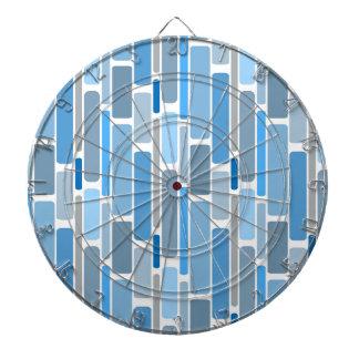 Cibles De Fléchettes Gris bleu de rétros blocs