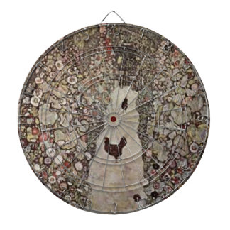 Cibles De Fléchettes Gustav Klimt - jardin avec des coqs