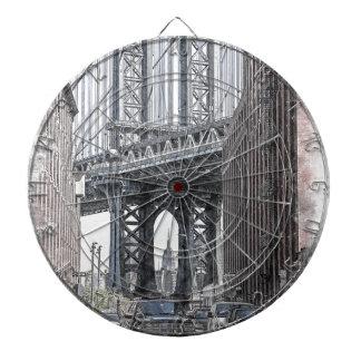 Cibles De Fléchettes Horizon de pont des Etats-Unis New York Manhattan
