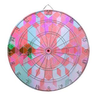 Cibles De Fléchettes Le rose électrique cube la conception graphique