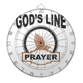 Cibles De Fléchettes ligne prière de dieux