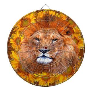 Cibles De Fléchettes lion africain fauve et cadeaux jaunes de