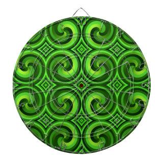 Cibles De Fléchettes Motif bouclé vert