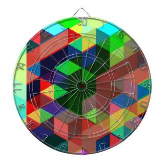 Cibles De Fléchettes Motif géométrique audacieux de cube